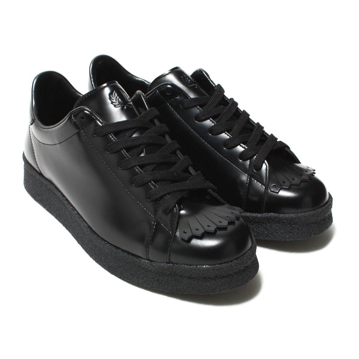 FRED PERRY Breaux Creeper Leather(フレッドペリー クリーパー レザー)BLACK【メンズ レディース スニーカー】18FA-I