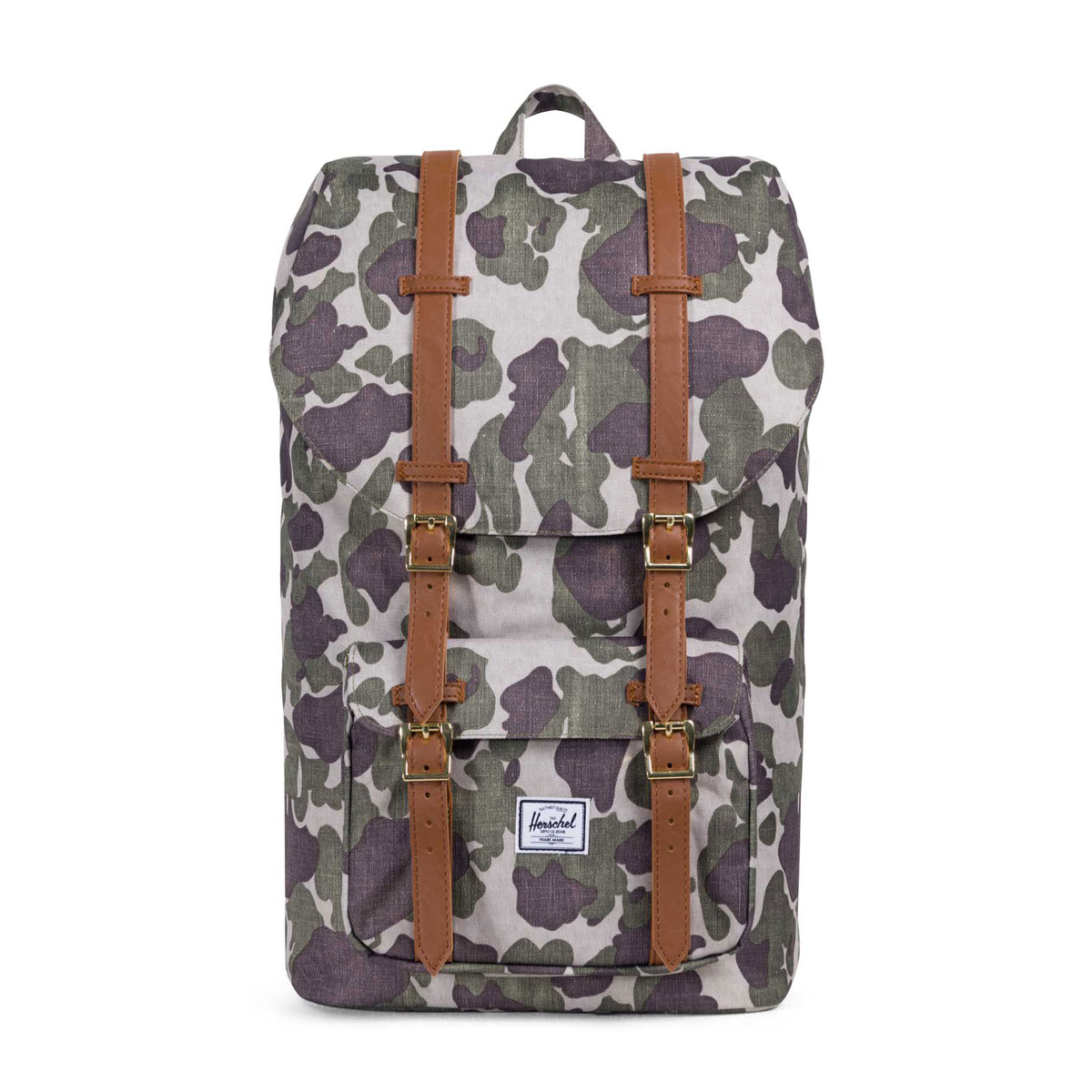 Herschel Supply Co LITTLE AMERICA BACKPACK(ハーシェル サプライ リトル アメリカ バックパック)Frog Camo/Tan Synthetic Leather【メンズ レディース バックパック】18SP-I