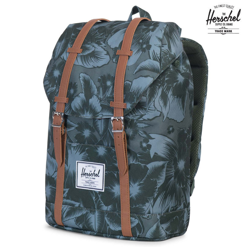 Herschel Supply Co RETREAT(ハーシェル サプライ リトリート)JUNGLE FLORAL GREEN16SU-I