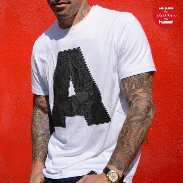 AMI JAMES for TATTOODO and HUMMEL YOAV SS TEE【アミ ジェームス フォー タトゥードー アンド ヒュンメル YOAV SS Tシャツ】 WHITE14FW-S