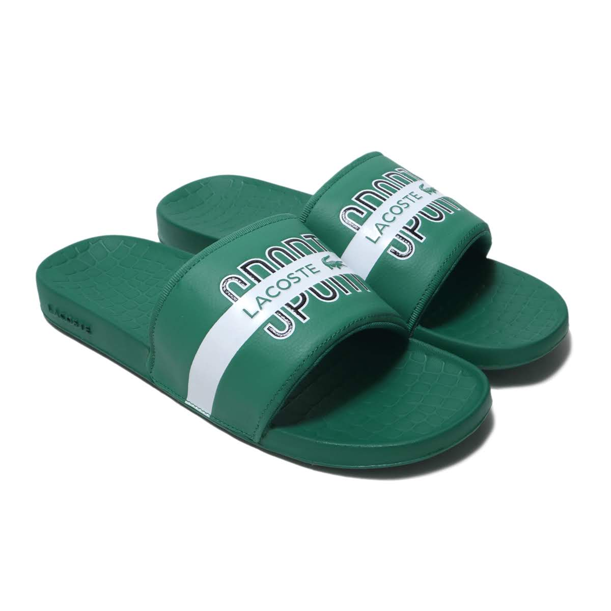 954745088875 It is the sandal which グラッフィック which is the sports inspire using the Lacoste  font of the archive image shines in in a three-dimensional foot bed