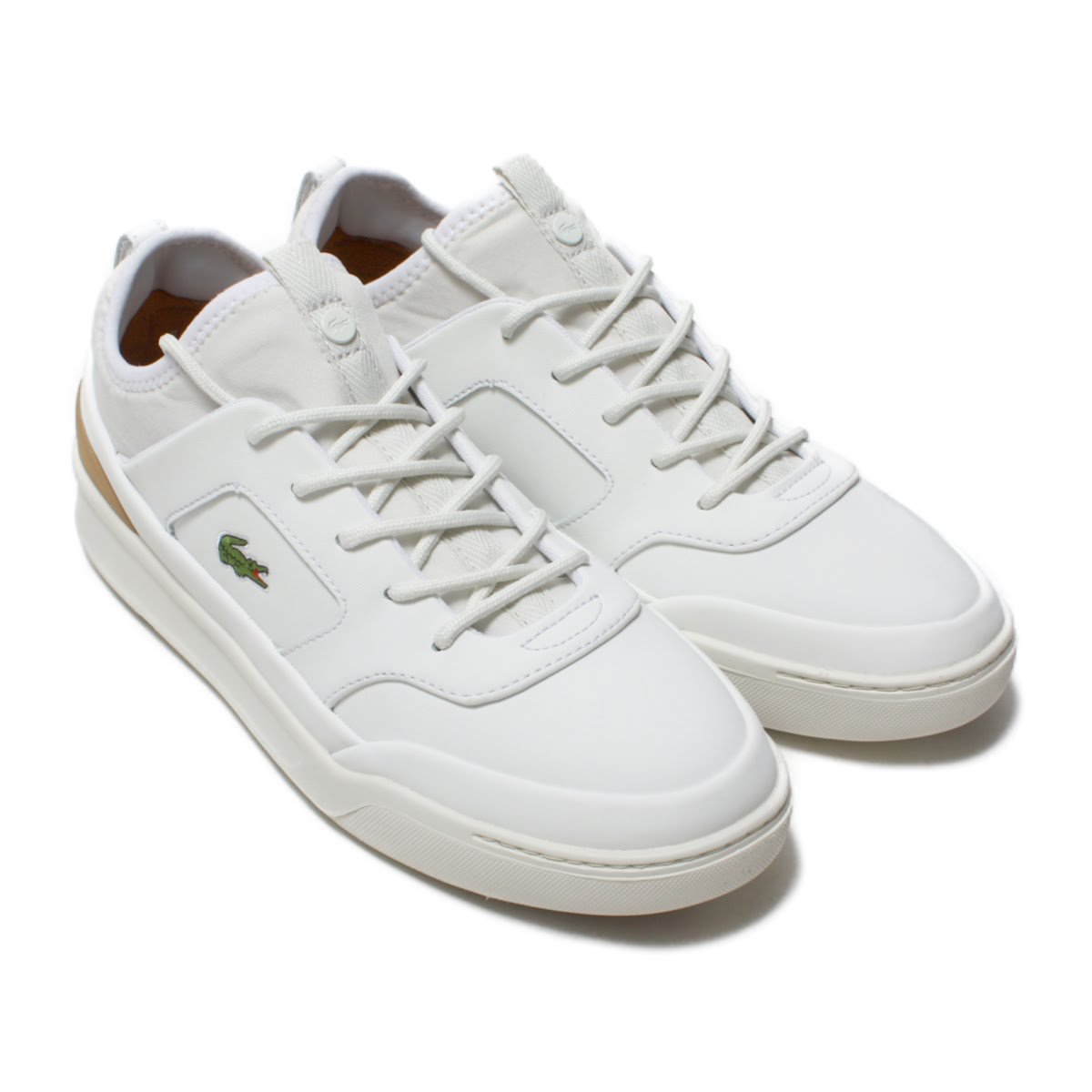 LACOSTE EXPLORATEUR CRFT SP 118 1(ラコステ エクスプロラトゥール クラフト SP 118 1)WHT/LT TAN【メンズ スニーカー】18SP-I
