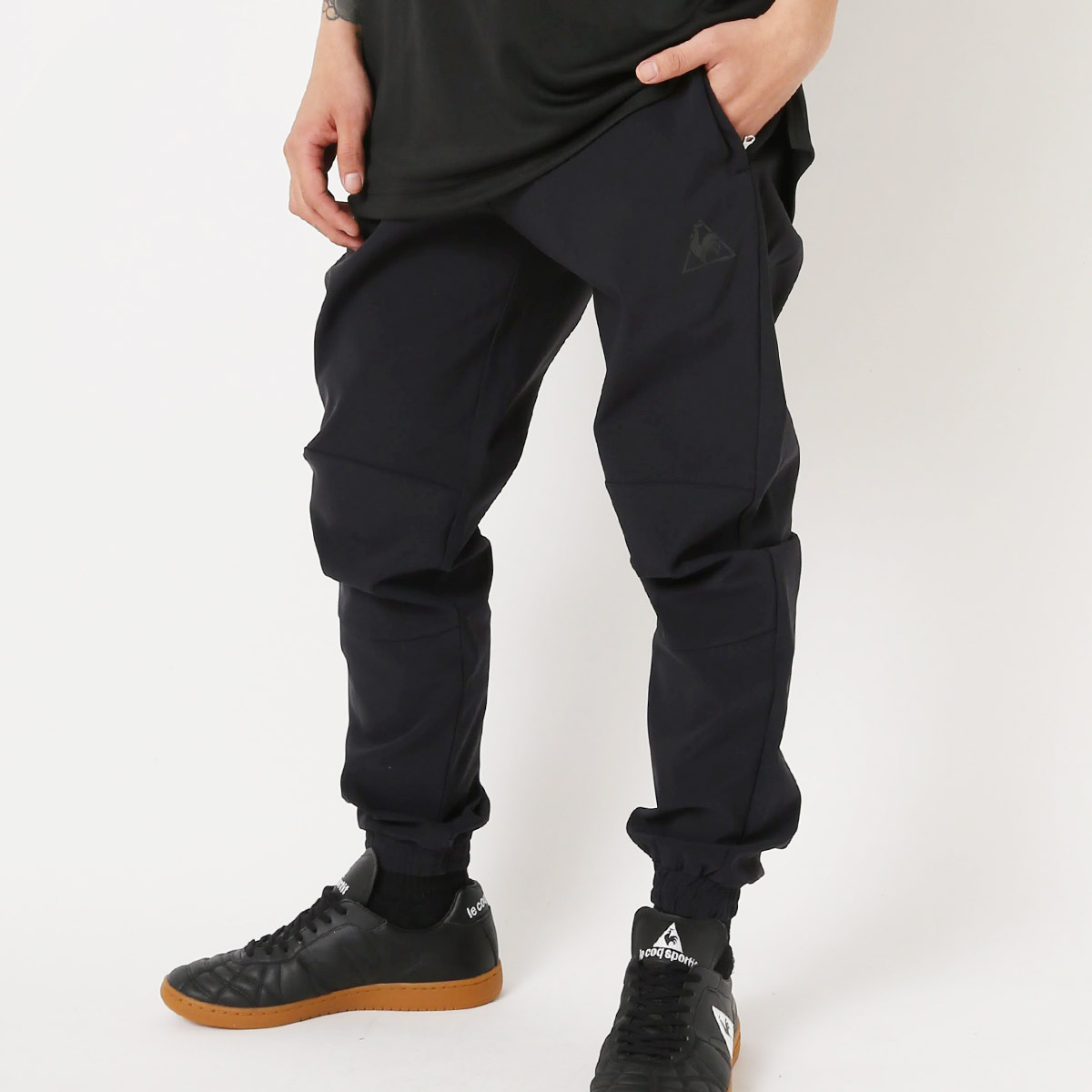 le coq sportif TAPERED PANTS(ルコックスポルティフ テ-パ-ド パンツ)BLK【メンズ パンツ】18SS-S