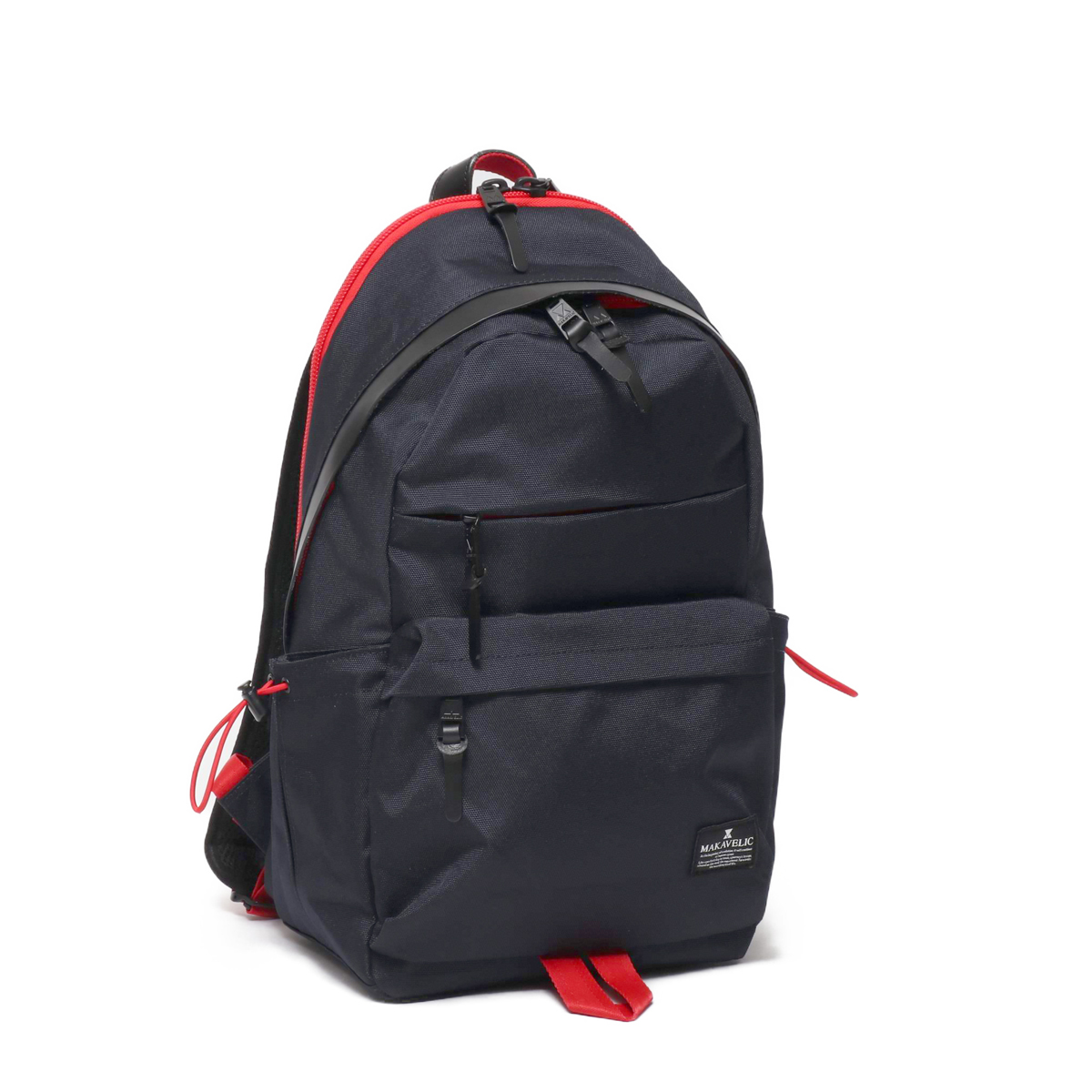 MAKAVELIC SHUTTLE DAYPACK(マキャベリック シャトル デイパック)D.NAVY/RED【メンズ バックパック】19FA-I