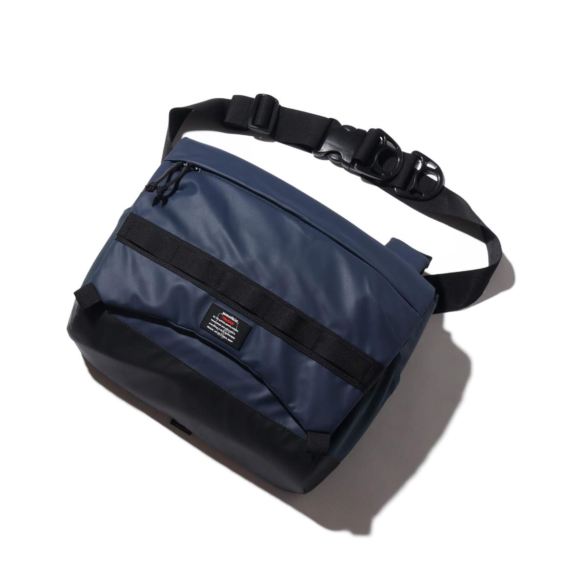MAKAVELIC RAISE SHOULDER BAG(マキャベリック レイズ ショルダーバッグ)NAVY【メンズ ショルダーバッグ】19FA-I