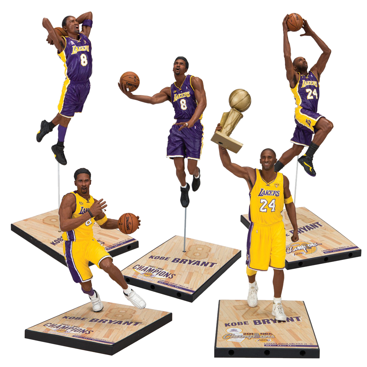 Mcfarlane Toys TMP/NBA Series Kobe Bryant Champion Series 7inch Figure(5体set)(マクファーレントイズ TMP/ NBA シリーズ: コービー・ブライアント チャンピオンシリーズ 7インチ フィギュア: 5種セット)17FW-I
