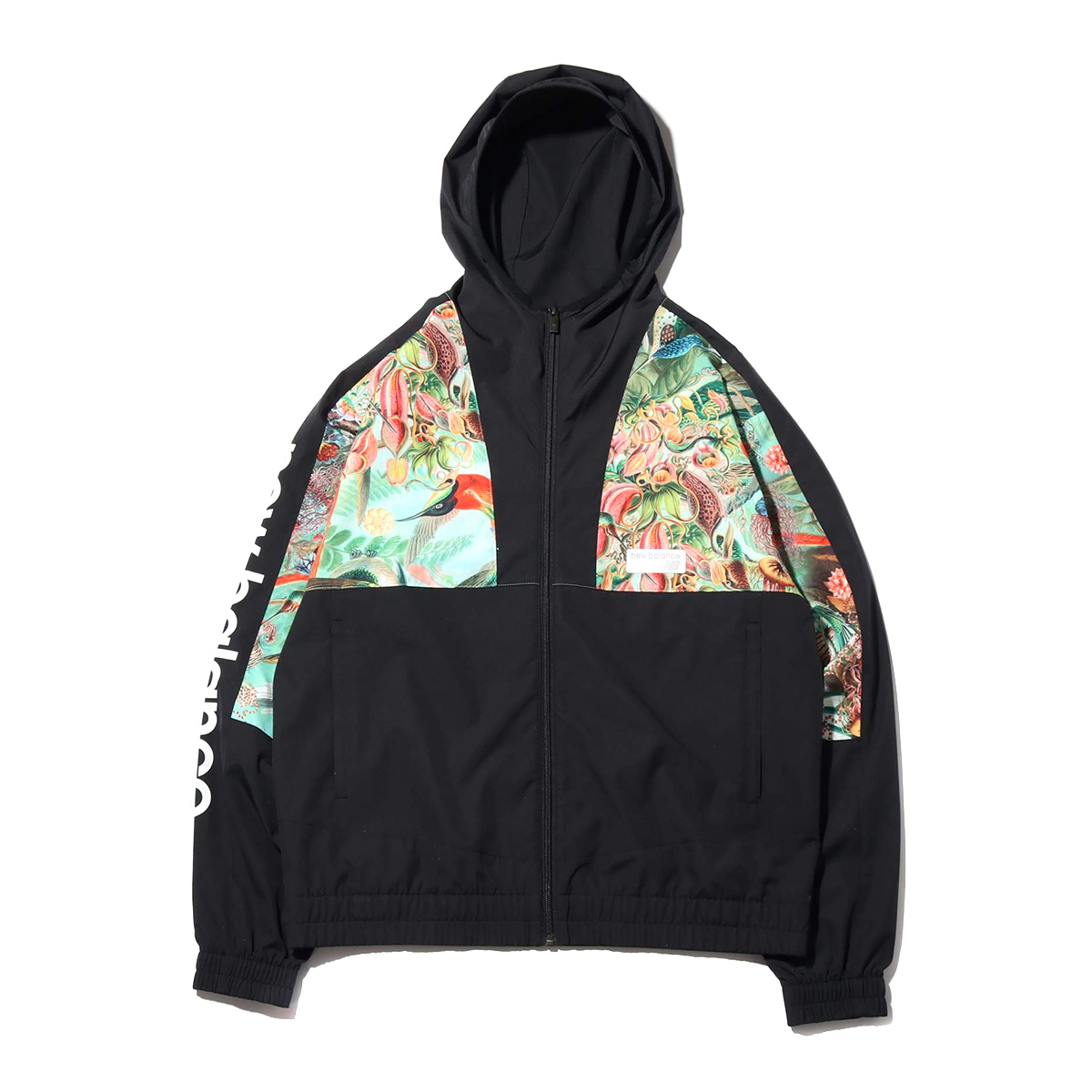 New Balance X atmos SWEET NECTAR NB Athletic Windbreaker (New Balance X atmos NB ウィンドブレーカー)ブラック【メンズ_ レディース ジャケット】19SS-I