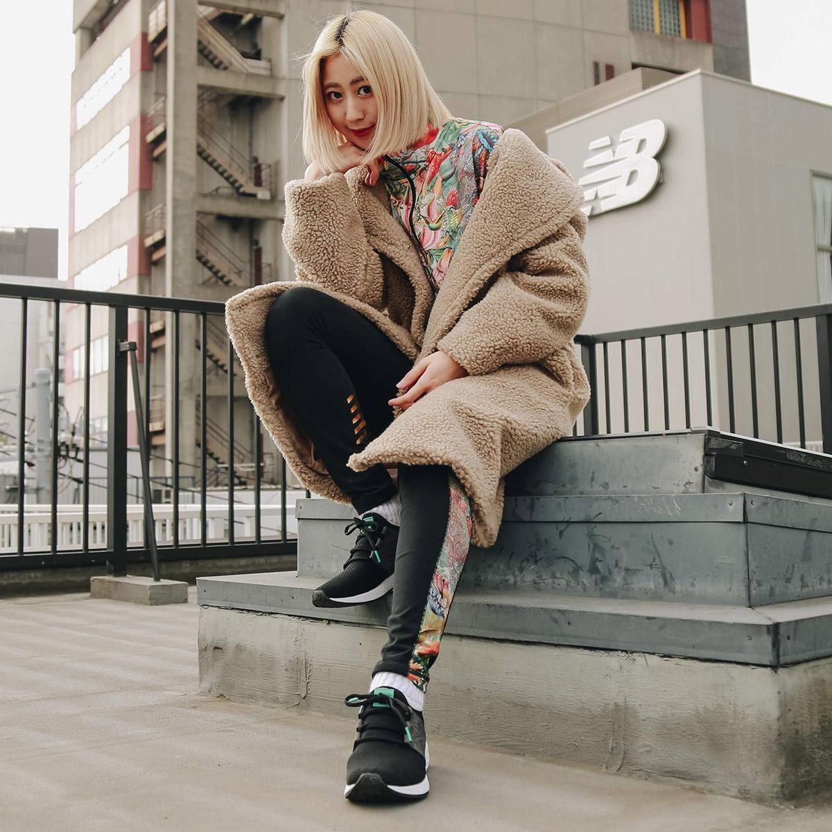 New Balance SWEET NECTAR LEGGINGS (ニューバランス NB スウェット ネクター レギンス)BLACKMULTI【メンズ レディース レギンス】19SS-I