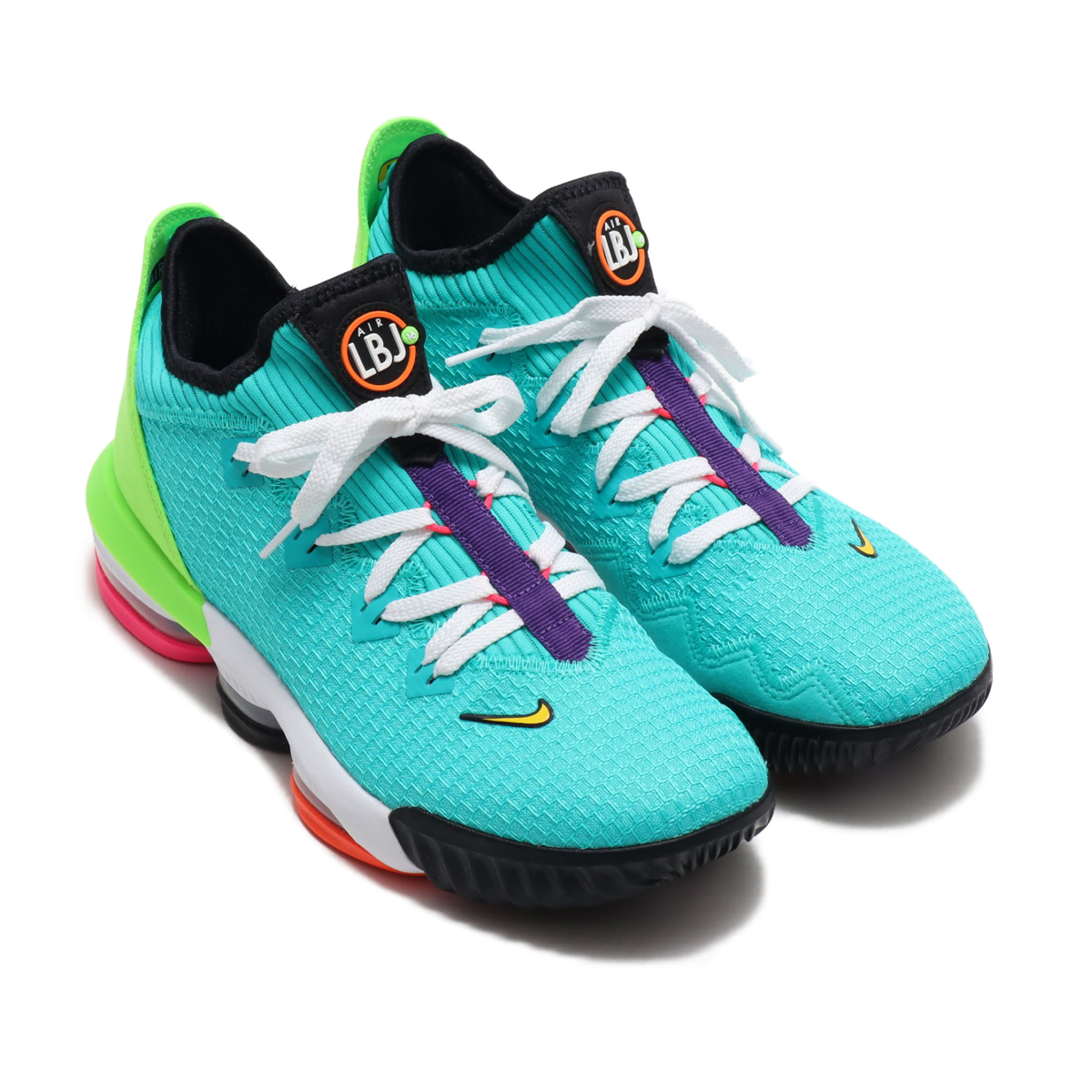 NIKE LEBRON XVI LOW(ナイキ レブロン XVI ロー)HYPER JADE/TOTAL ORANGE-ELECTRIC GREEN【メンズ スニーカー】19FA-S