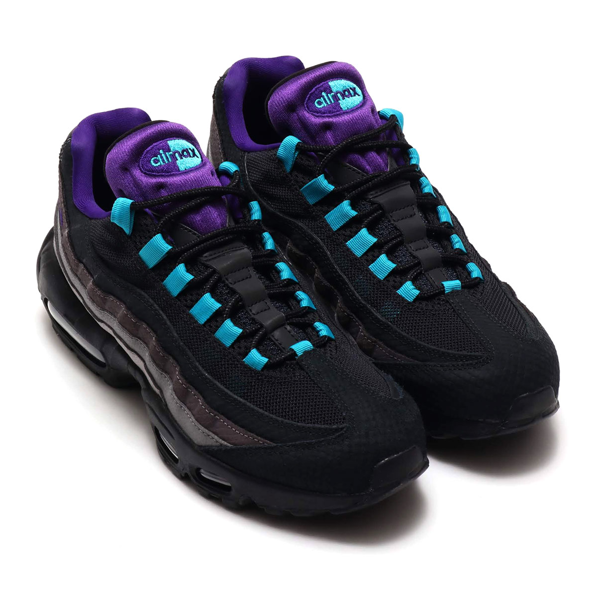 purple and teal air max 95