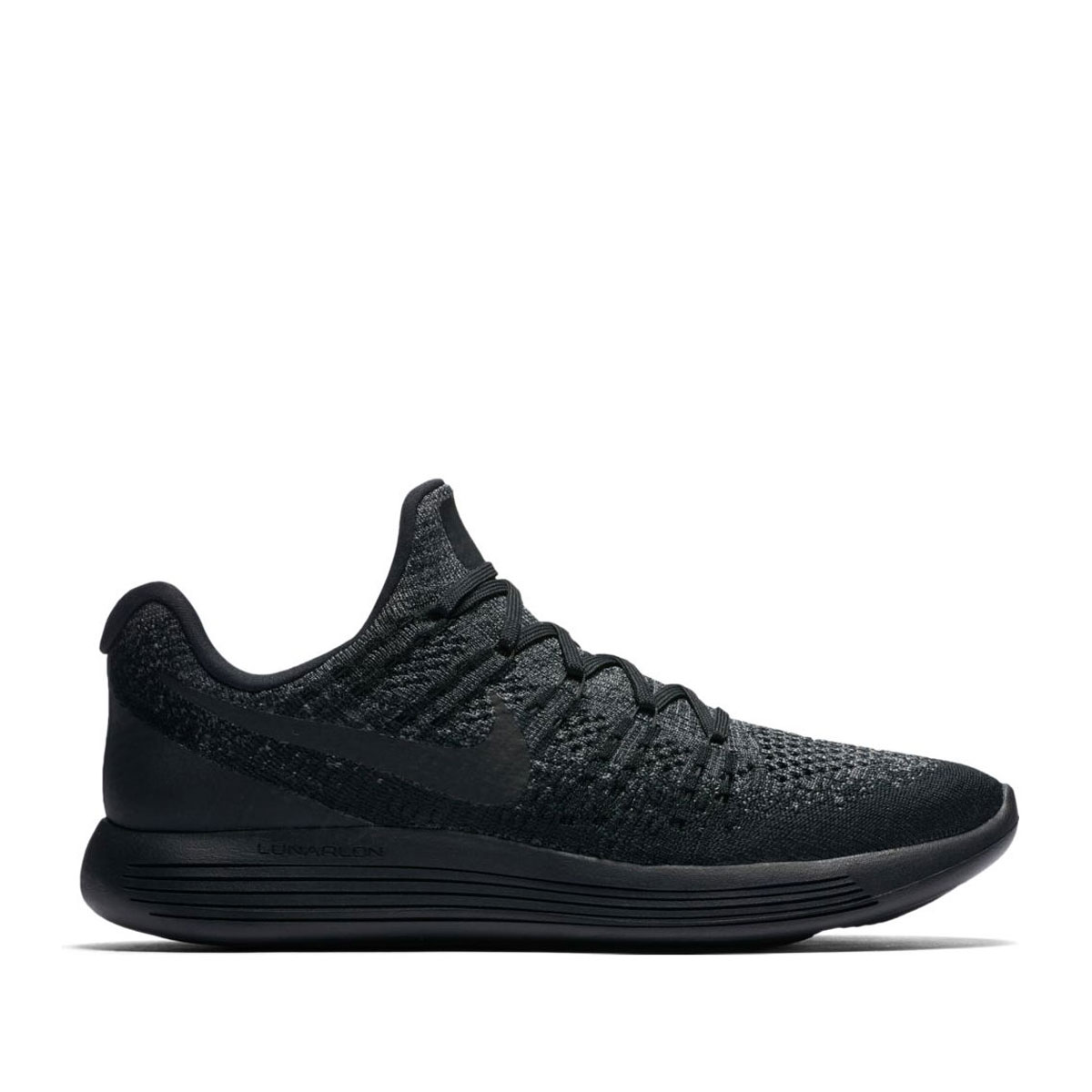 buy online 056f8 cf7a1 NIKE LUNAREPIC LOW FLYKNIT 2 (Nike luna epic loaf rye knit 2) BLACK  ...