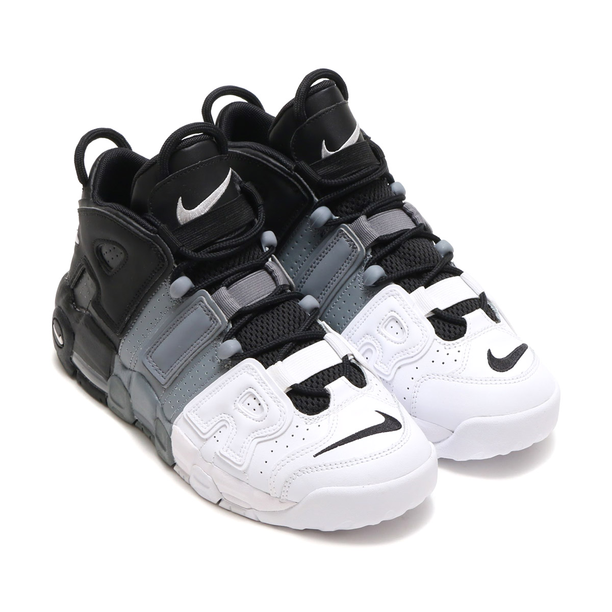 NIKE AIR MORE UPTEMPO(GS) (Nike air more up tempo GS) (BLACK/BLACK-COOL  GREY-WHITE) 17FA-S