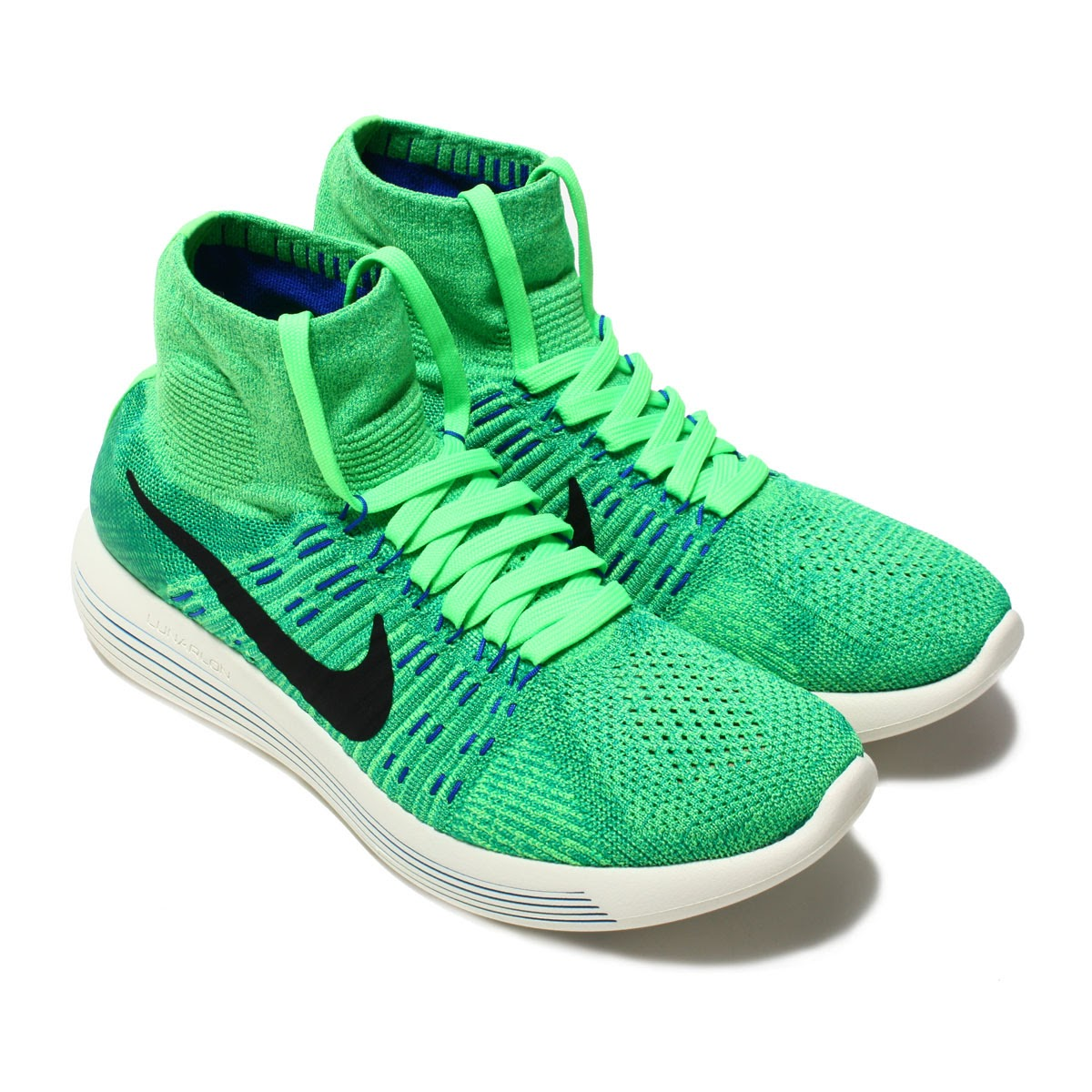 NIKE LUNAREPIC FLYKNIT (Nike luna epic fly knit) (VOLTAGE GREEN BLACK-LUCID  GREEN) 57700c5bc364