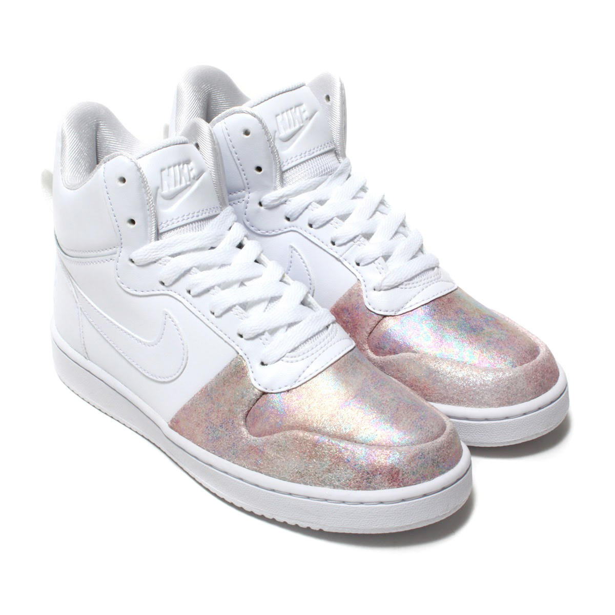 sports shoes 7cc19 55e03 NIKE W COURT BOROUGH MID PREM (Nike women coat Barlow mid premium)  WHITE WHITE-ROSE GOLD 17HO-I