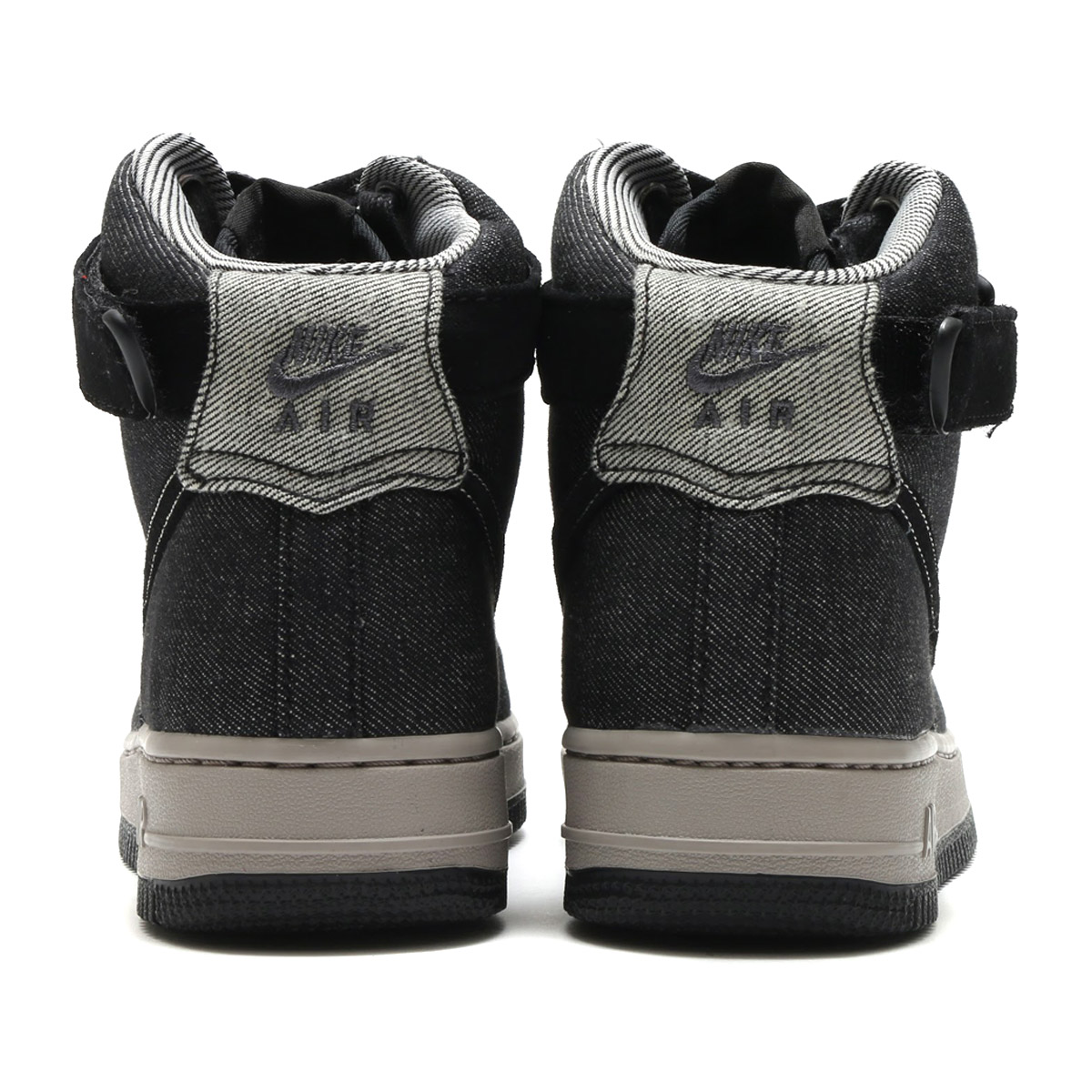huge discount 164ca e173d NIKE WMNS AIR FORCE 1 HI SE (Nike women air force 1 HI SE) (BLACK DARK GREY- COBBLESTONE) 17FA-S
