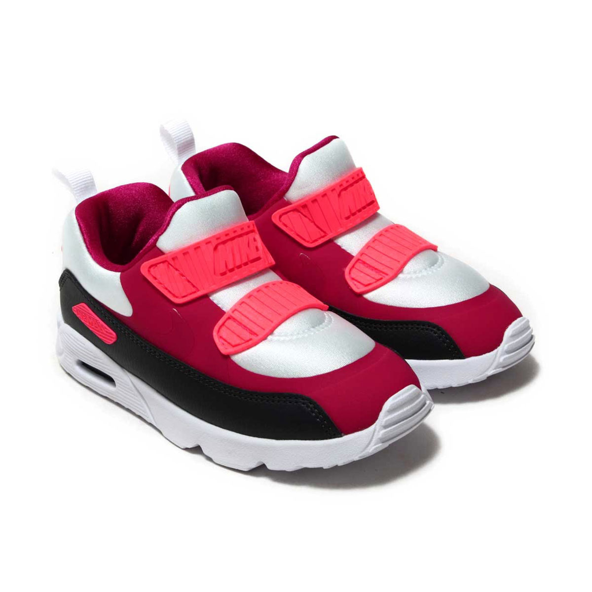 8acd156140f3 NIKE AIR MAX TINY 90 (TD) (Kie Ney AMAX Thailand knee 90 TD) WHITE NOBLE  RED-ANTHRACITE-SOLAR RED 17HO-I