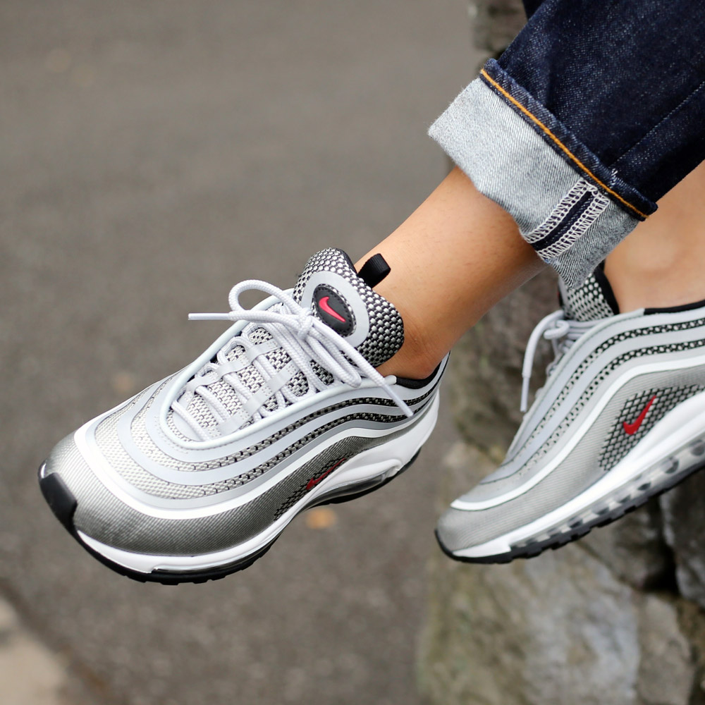 NIKE W AIR MAX 97 UL '17 (Nike women Air Max 97 ultra 17) (METALLIC SILVER/VARSITY  RED-BLACK-WHITE) 17FA-S