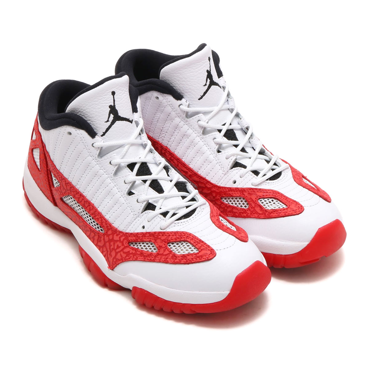 cd20c5304834 NIKE AIR JORDAN 11 RETRO LOW IE (Nike Air Jordan 11 nostalgic low IE)  (WHITE GYM RED-BLACK) 17HO-S