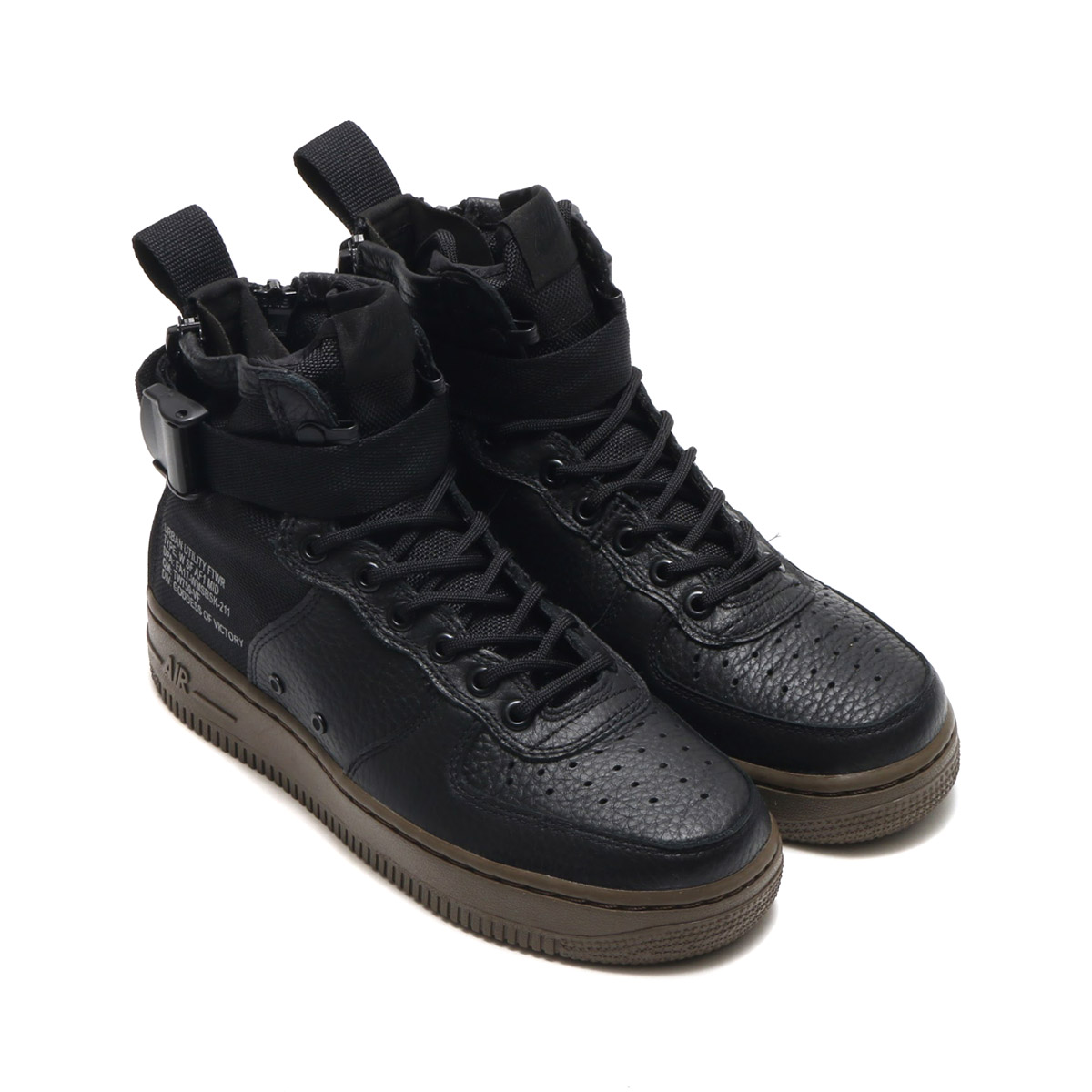NIKE W SF AF1 MID (Nike women special field air force 1 mid) (BLACK BLACK- DARK HAZEL) 17FA-S e70193c74