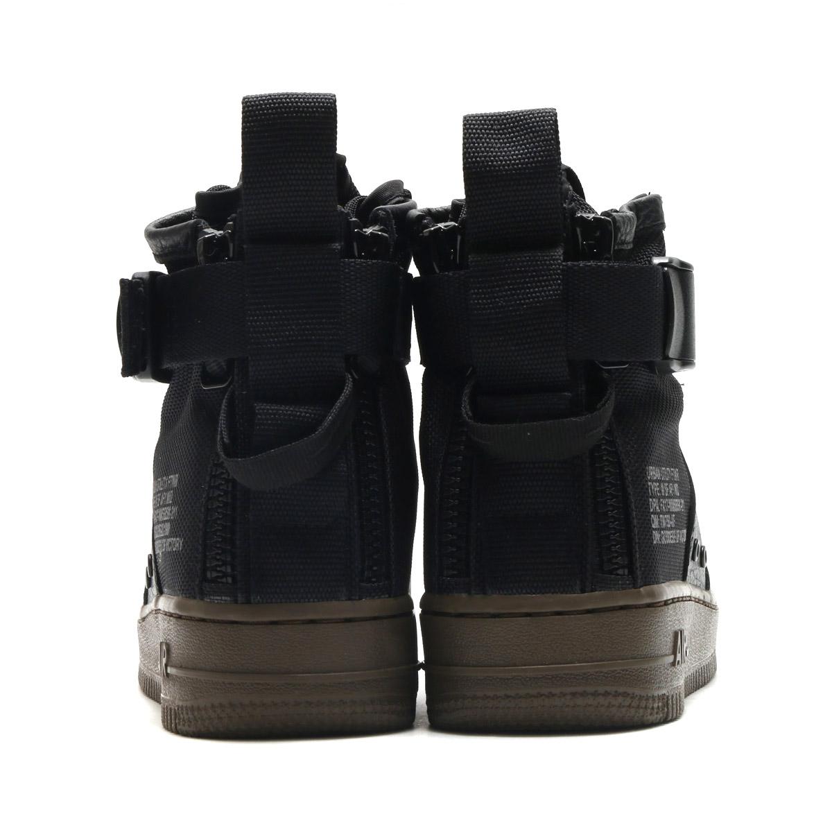 da82072c6aa623 NIKE W SF AF1 MID (Nike women special field air force 1 mid) (BLACK BLACK-DARK  HAZEL) 17FA-S
