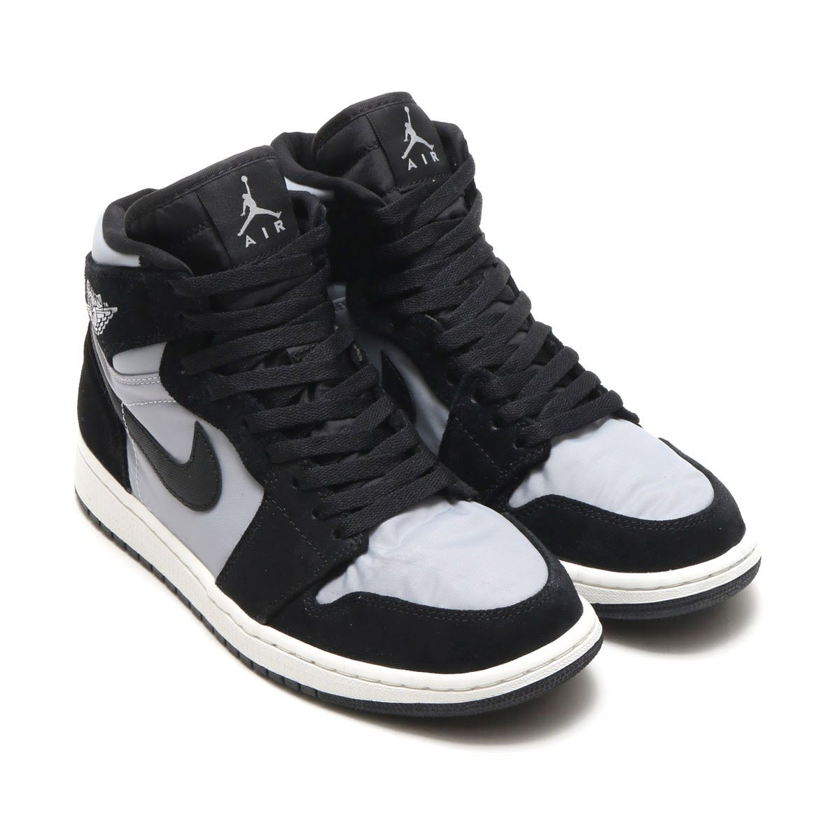 NIKE AIR JORDAN 1 RETRO HIGH PREM(ナイキ エア ジョーダン 1 レトロ ハイ プレミアム)(BLACK/WOLF GREY-SUMMIT WHITE)17HO-S