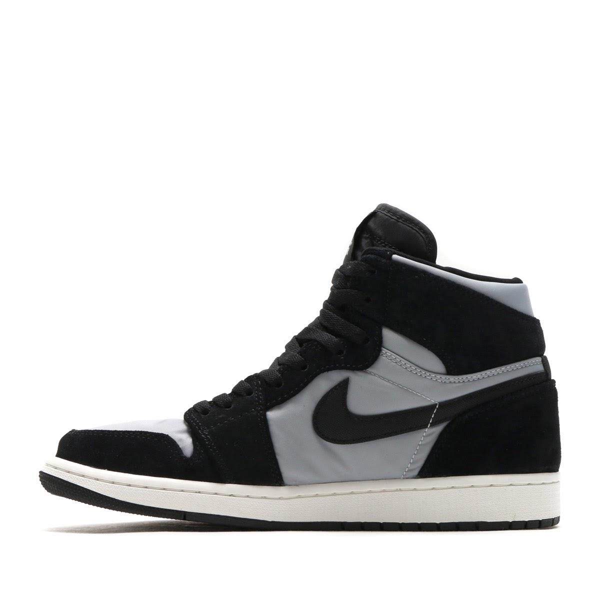 new styles 51a2d b5a93 NIKE AIR JORDAN 1 RETRO HIGH PREM (Nike Air Jordan 1 nostalgic high premium)  (BLACK WOLF GREY-SUMMIT WHITE) 17HO-S