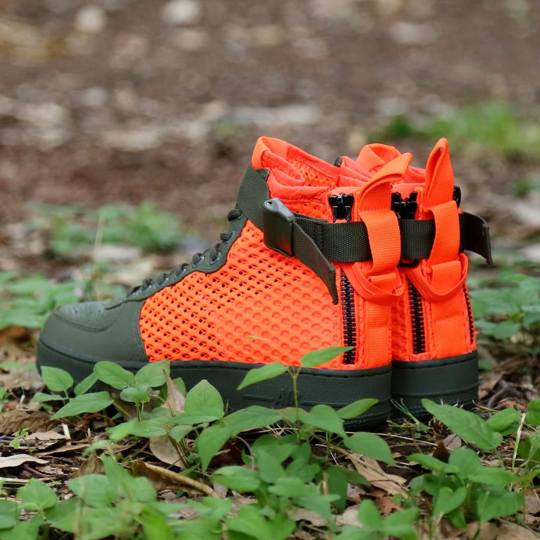 99add8346e70 NIKE SF AF1 MID QS (Nike special field air force 1 mid QS) (CARGO KHAKI TOTAL  CRIMSON-CARGO KHAKI) 17FA-S