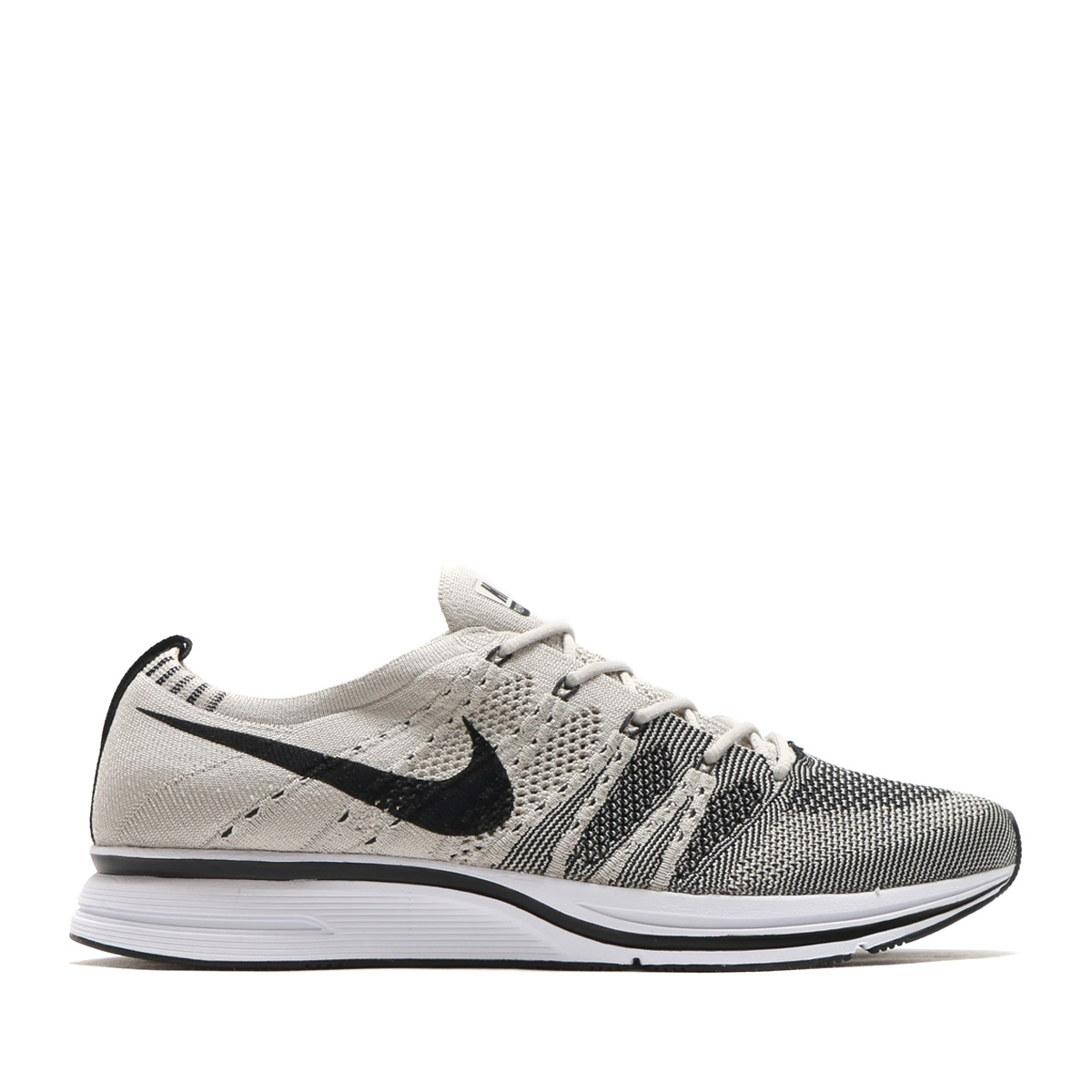 f80cf772d04cb NIKE FLYKNIT TRAINER (Nike fried food knit trainer) (PALE GREY BLACK-WHITE)  17FA-S
