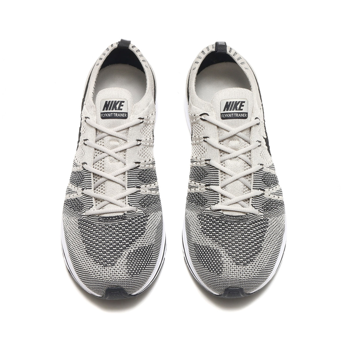 f78fab8a10d6 NIKE FLYKNIT TRAINER (Nike fried food knit trainer) (PALE GREY BLACK-WHITE)  17FA-S