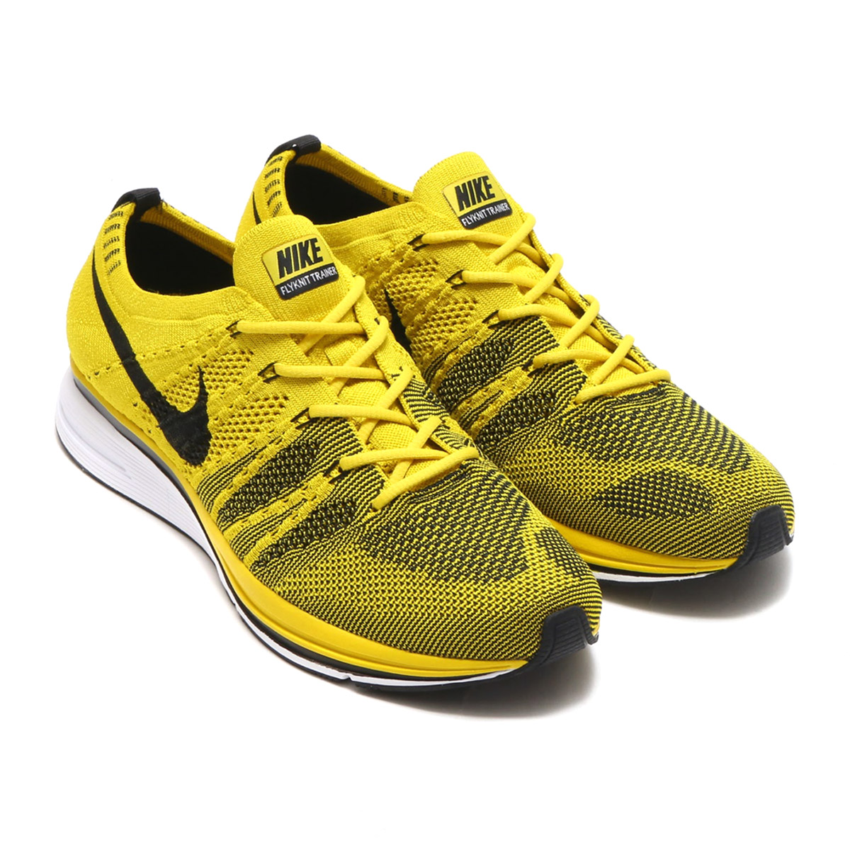 257282a6054f NIKE FLYKNIT TRAINER (Nike fried food knit trainer) (BRIGHT CITRON BLACK- WHITE) 17HO-S