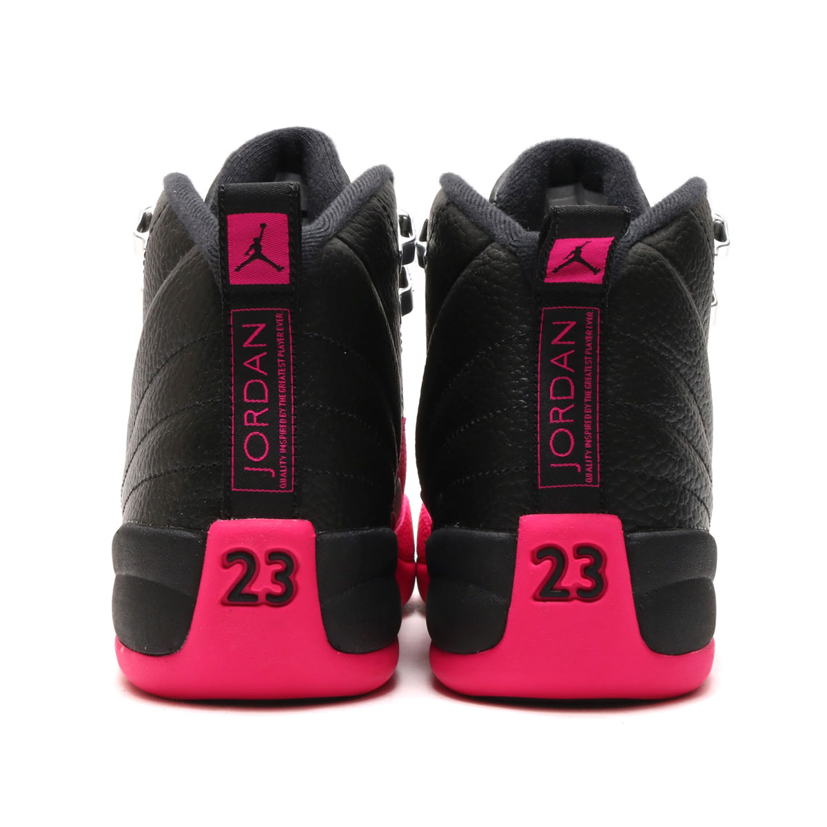 NIKE AIR JORDAN 12 RETRO GG (Nike Air Jordan 12 nostalgic GG) (BLACK/DEADLY  PINK-METALLIC SILVER) 17HO-S