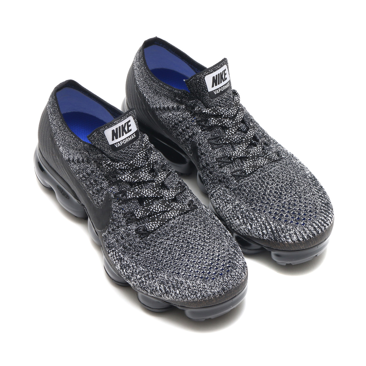 315c62ca9e13 NIKE WMNS AIR VAPORMAX FLYKNIT (Nike women air vapor max fried food knit) ( BLACK BLACK-WHITE-RACER BLUE) 17HO-S