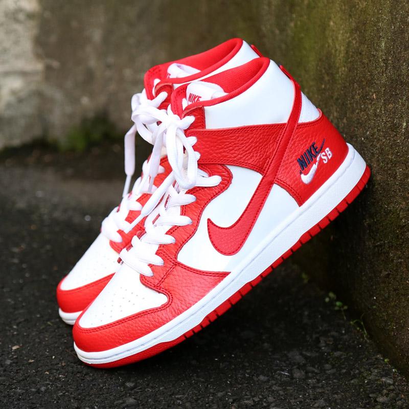 ffefa85cb14c NIKE SB ZOOM DUNK HIGH PRO (Nike SB zoom dunk high professional) (UNIVERSITY  RED UNIVERSITY RED-WHITE)