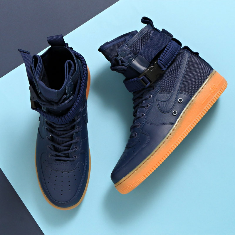 b713a1b16a779d special field air force 1 midnight navy Today I will be reviewing the Nike  SF AF1 High Navy Gum.