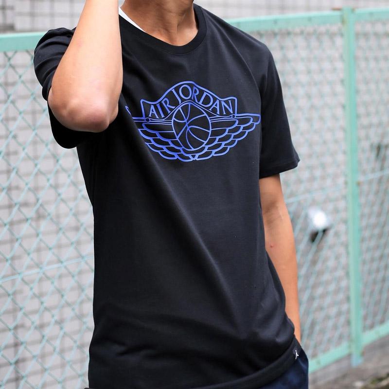 on sale d38bc ae73b It is) 17HO-S (BLACK (GAME ROYAL) NIKE M JSW TEE BRAND 5 (Nike Jordan JSW  brand S S T-shirt)