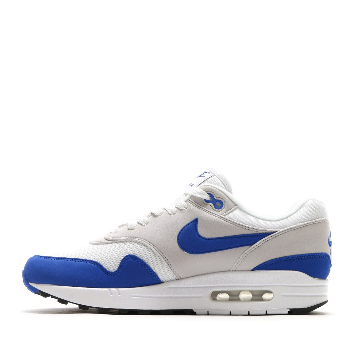NIKE AIR MAX 1 ANNIVERSARY (Kie Ney AMAX 1 anniversary) (WHITEGAME ROYAL NEUTRAL GREY BLACK) 17HO S