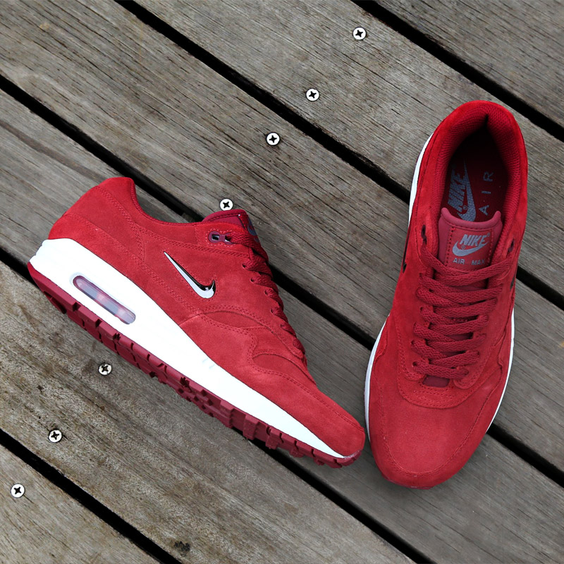 buy online 68863 af476 new zealand nike air max 1 red suede a98c5 a3d0c
