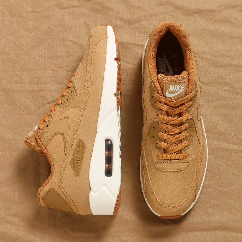 dccad8cbdca NIKE AIR MAX 90 ULTRA 2.0 LTR (Kie Ney AMAX 90 ultra 2.0 leather) (FLAX FLAX-SAIL-GUM  MED BROWN) 17HO-S