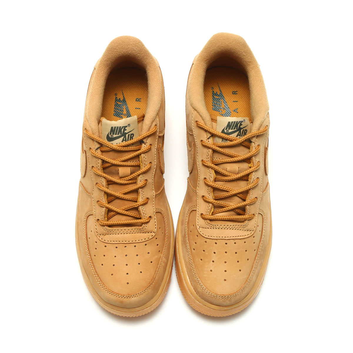 new concept 6c8c5 00328 NIKE AIR FORCE 1 WINTER PRM GS (GS premium for Nike air force 1 winter) ( FLAX FLAX-OUTDOOR GREEN-GUM YELLOW) 17HO-S