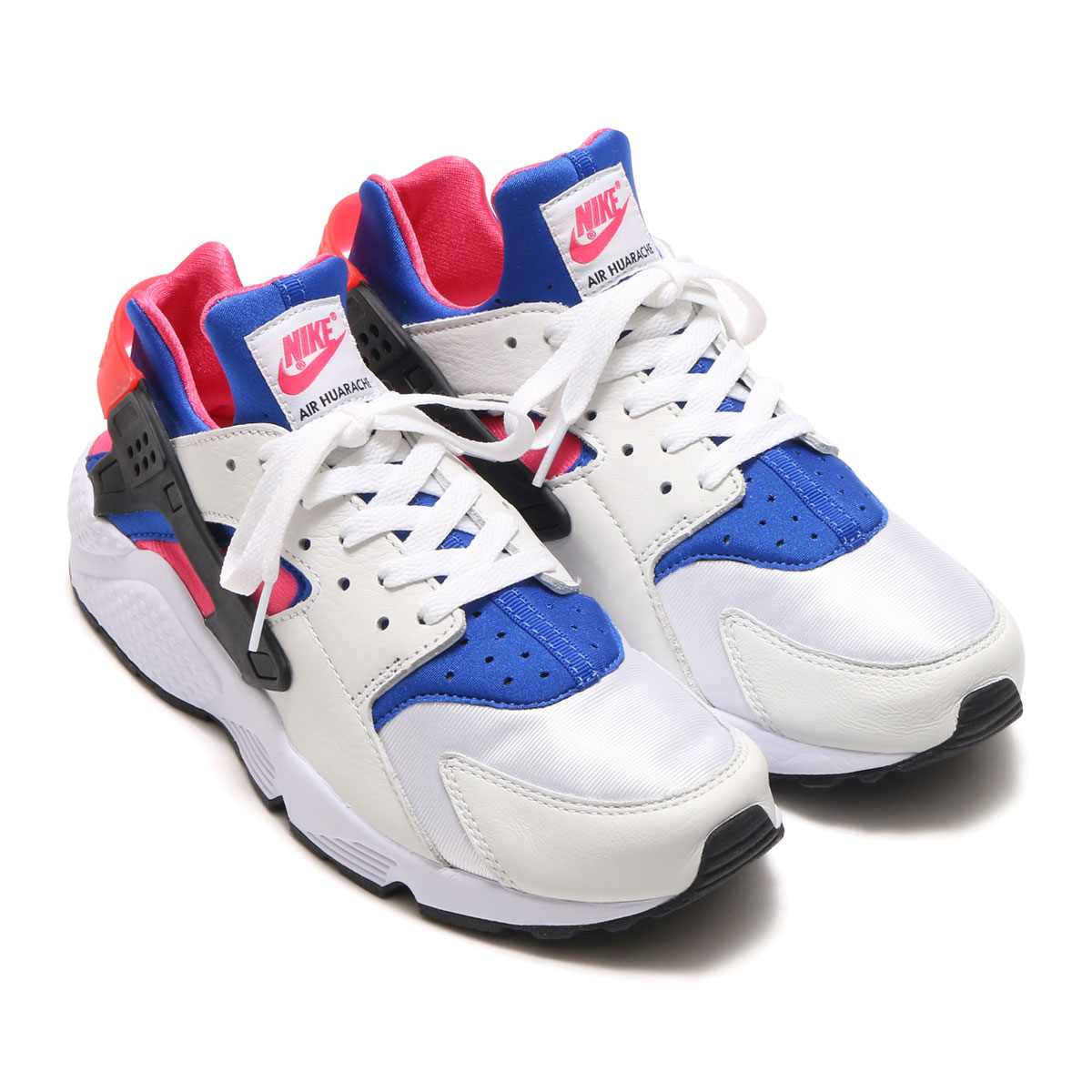NIKE AIR HUARACHE RUN \u002791 QS (?????????? 91 QS) (WHITE/GAME ROYAL/BLACK/DYNAMIC  PINK) 17HO-S