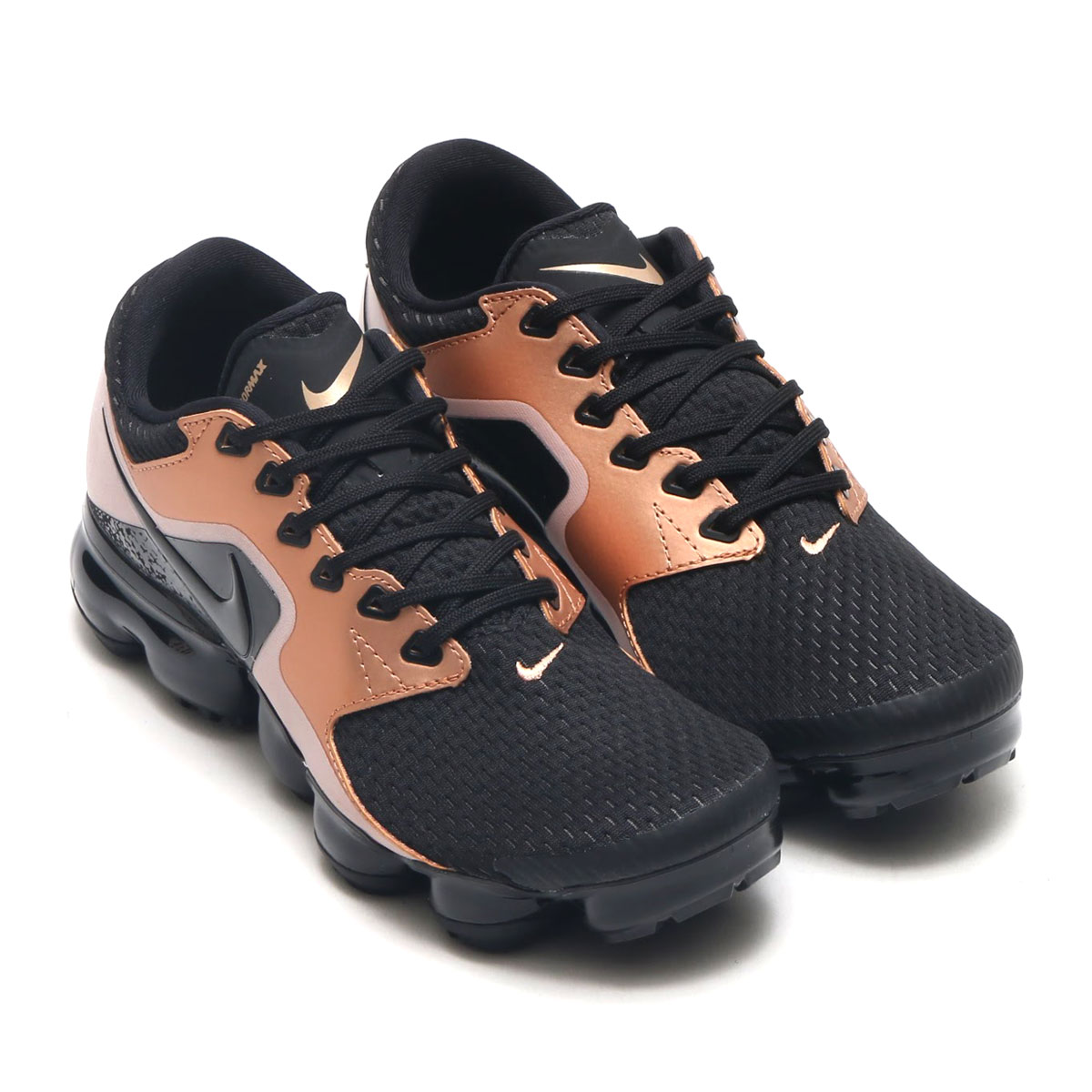 NIKE WMNS AIR VAPORMAX(ナイキ ウィメンズ エア ベイパーマックス)(BLACK/BLACK-BLACK-MTLC RED BRONZE)17HO-S