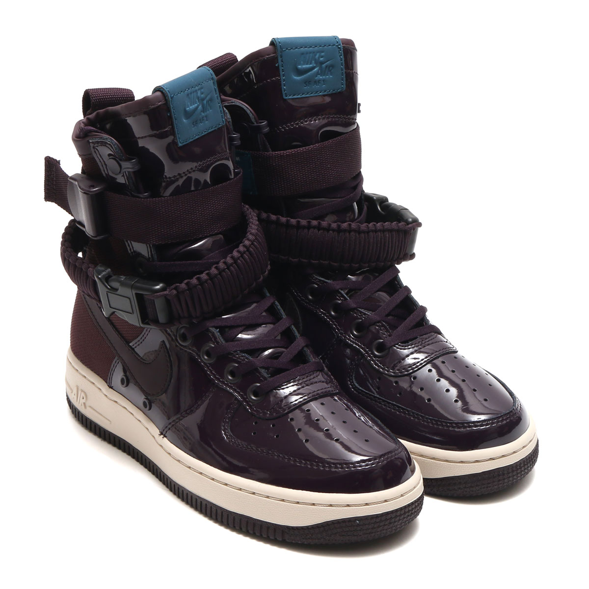 buy popular 08a55 646a2 NIKE WMNS SF AF1 SE PRM (Nike women special field air force 1 SE premium)  (PORT WINEPORT WINE-SPACE BLUE) 17HO-S