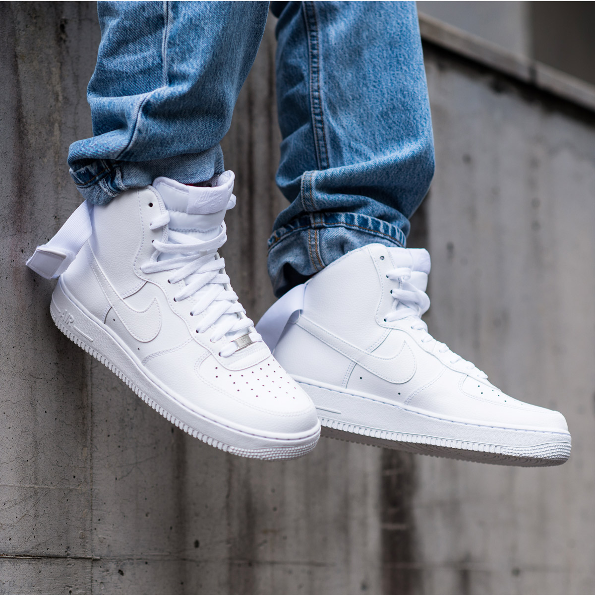 lowest price dc45b 29ada NIKE AIR FORCE 1 HIGH  07 (Nike air force 1 high 07) (WHITE WHITE) 18SP-S
