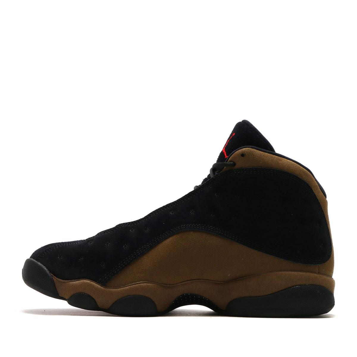 6360ef35767de7 NIKE AIR JORDAN 13 RETRO (nostalgic Nike Air Jordan 13) (BLACK GYM RED-LIGHT  OLIVE-WHITE) 18SP-S