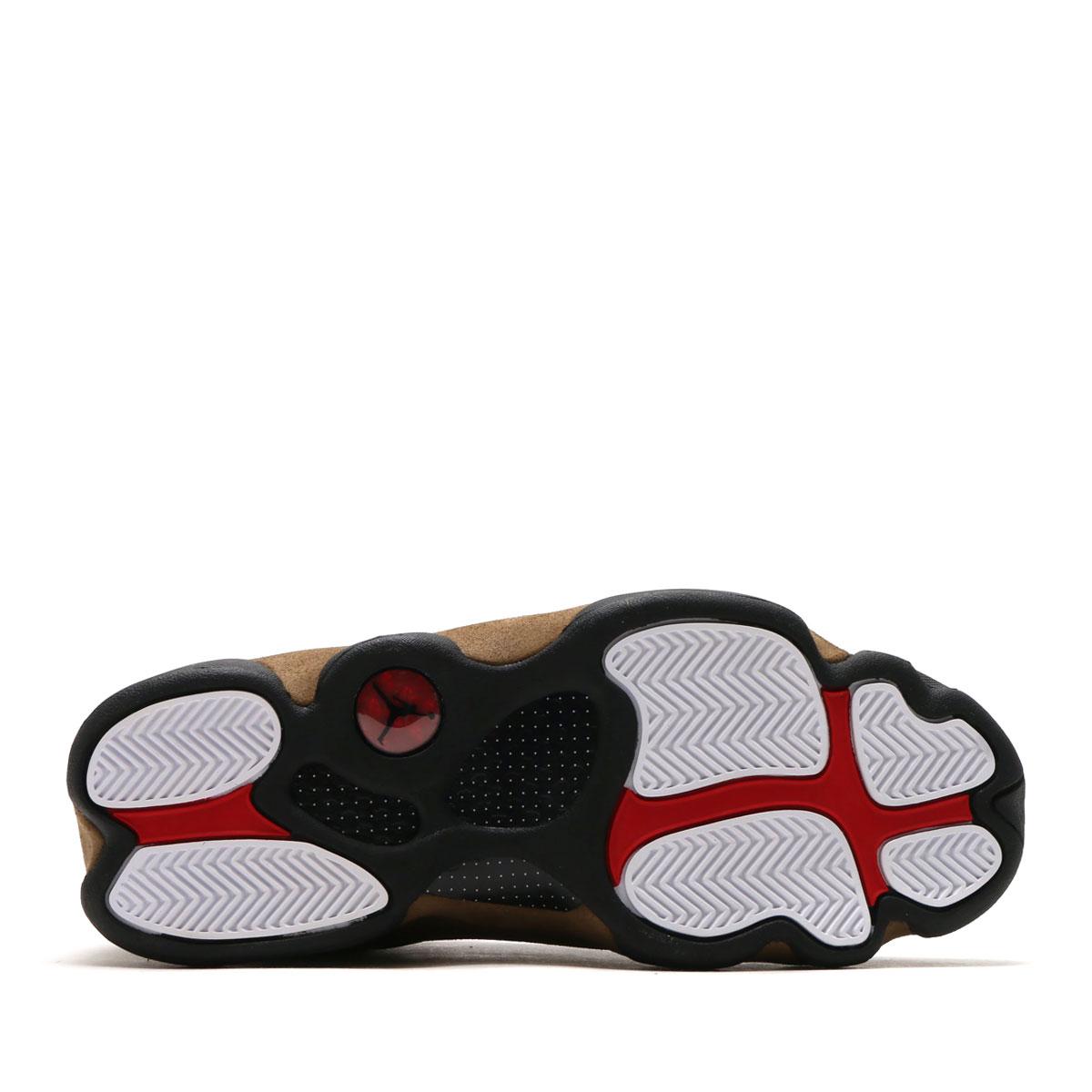 84db8383f5e2e5 NIKE AIR JORDAN 13 RETRO (nostalgic Nike Air Jordan 13) (BLACK GYM RED-LIGHT  OLIVE-WHITE) 18SP-S