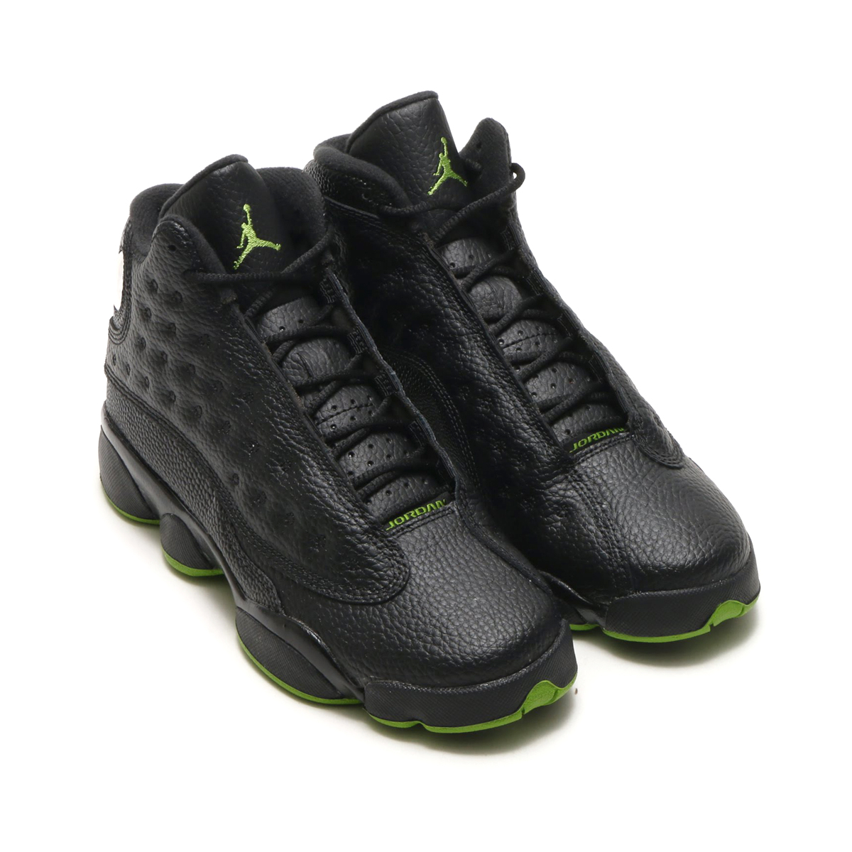 NIKE AIR JORDAN 13 RETRO BG(ナイキ エア ジョーダン 13 レトロ BG)(BLACK/ALTITUDE GREEN)17HO-S