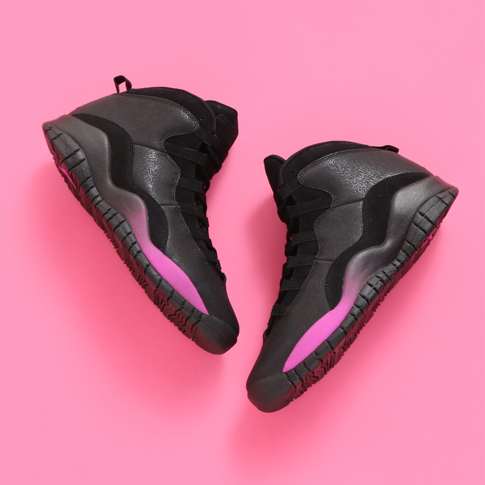 de5b5b276f68 NIKE AIR JORDAN 10 RETRO GG (Nike Air Jordan 10 nostalgic GG) (BLACK FUCHSIA  BLAST-BLACK) 18SP-S