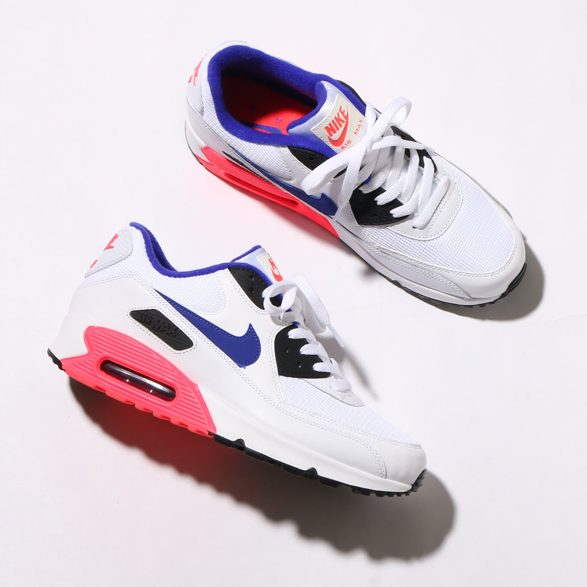 timeless design 9aaba 95bee maximum point 10 times that is targeted for all articles! NIKE AIR MAX 90  ESSENTIAL (Kie Ney AMAX 90 essential) (WHITE ULTRAMARINE-SOLAR RED-BLACK)  18SP-S