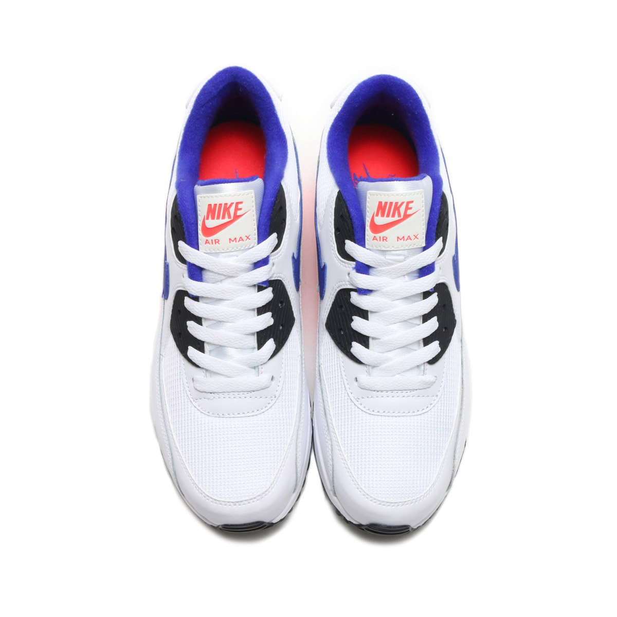 timeless design 61aa4 2b2a8 maximum point 10 times that is targeted for all articles! NIKE AIR MAX 90  ESSENTIAL (Kie Ney AMAX 90 essential) (WHITE ULTRAMARINE-SOLAR RED-BLACK)  18SP-S