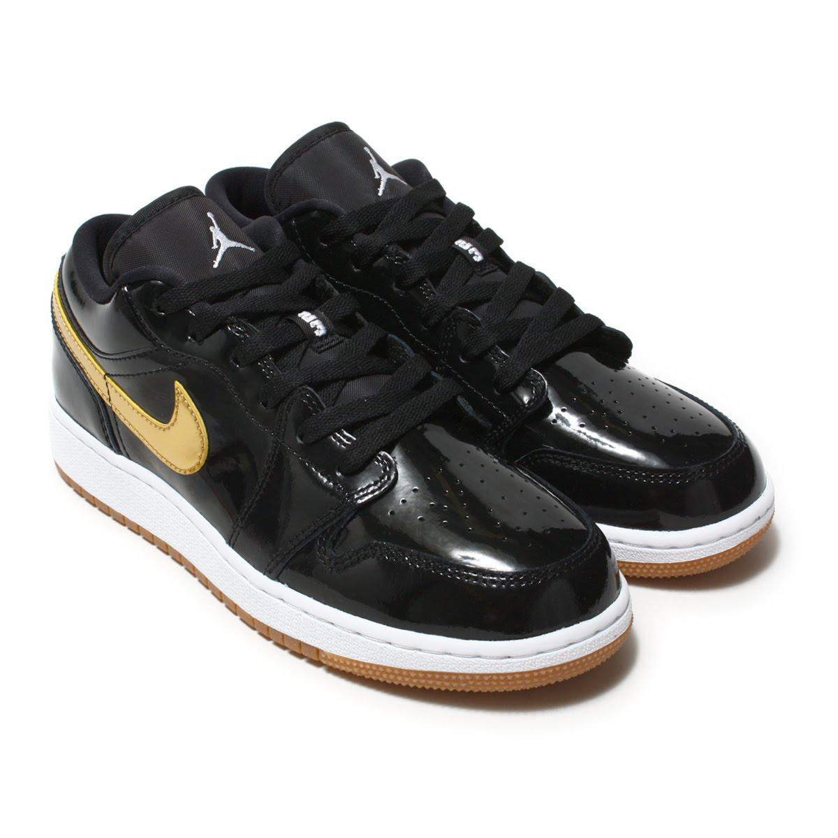 a8fab4b64d95 NIKE AIR JORDAN 1 LOW GG (Nike Air Jordan 1 low GG) BLACK METALLIC GOLD-WHITE  18SP-I